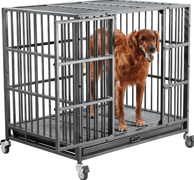 frisco ultimate heavy duty steel metal dog cage large