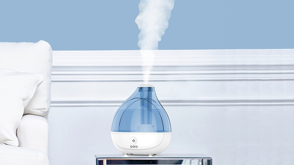 blue and white humidifier