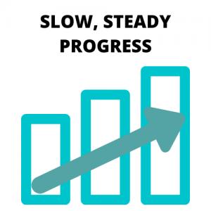 slow steady training progress