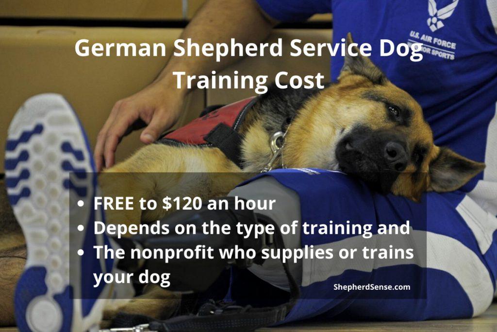 german shepherd service dog training cost