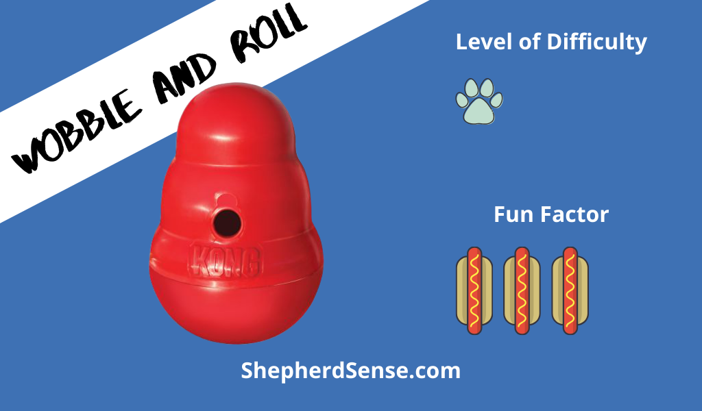 wobble and roll game with a kong toy