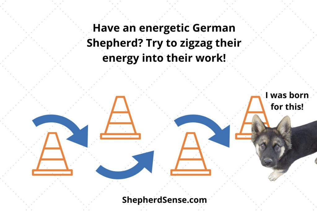 zigzagging around cones