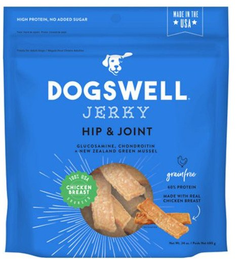 dogswell jerky hip and joint dog chew treats