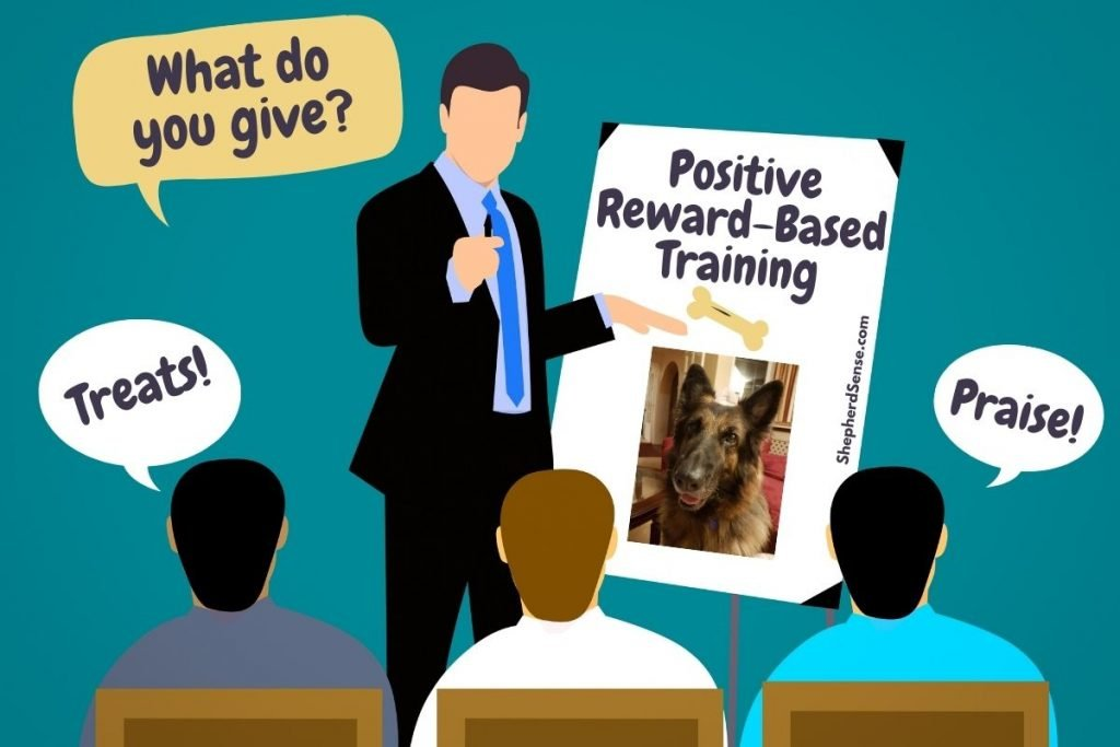 positive, reward-based training is best for your german shepherd
