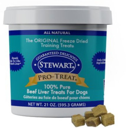 Stewart Pro-Treat Beef Liver Freeze-Dried Raw Dog Treats - The Ferrari of German Shepherd Dog Treats