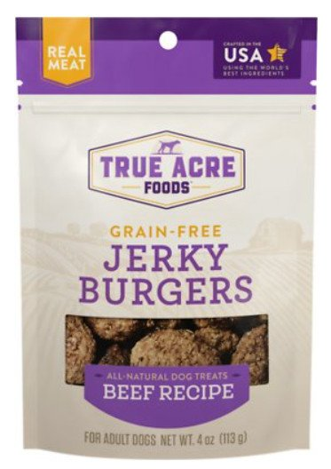 true acre grain-free jerky burgers beef dog treats
