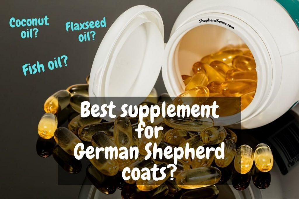 best supplement for german shepherd coat health and shine