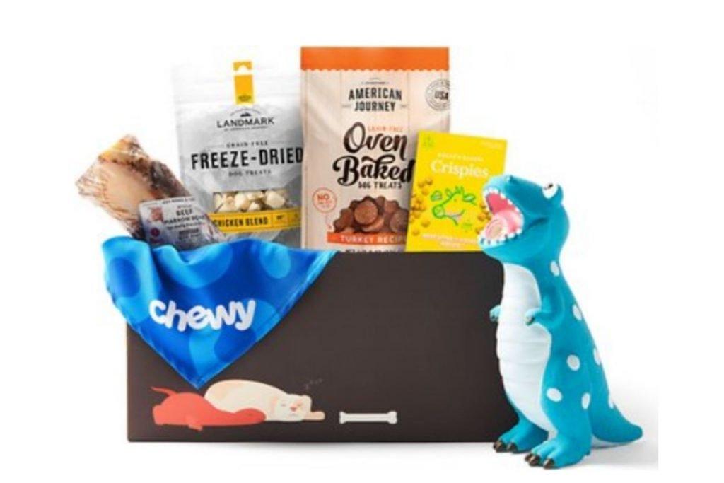 dog treat and toy goody box