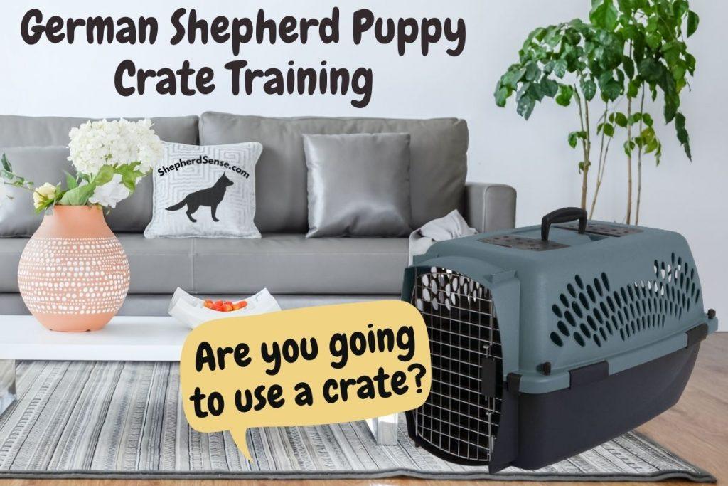 german shepherd puppy crate training