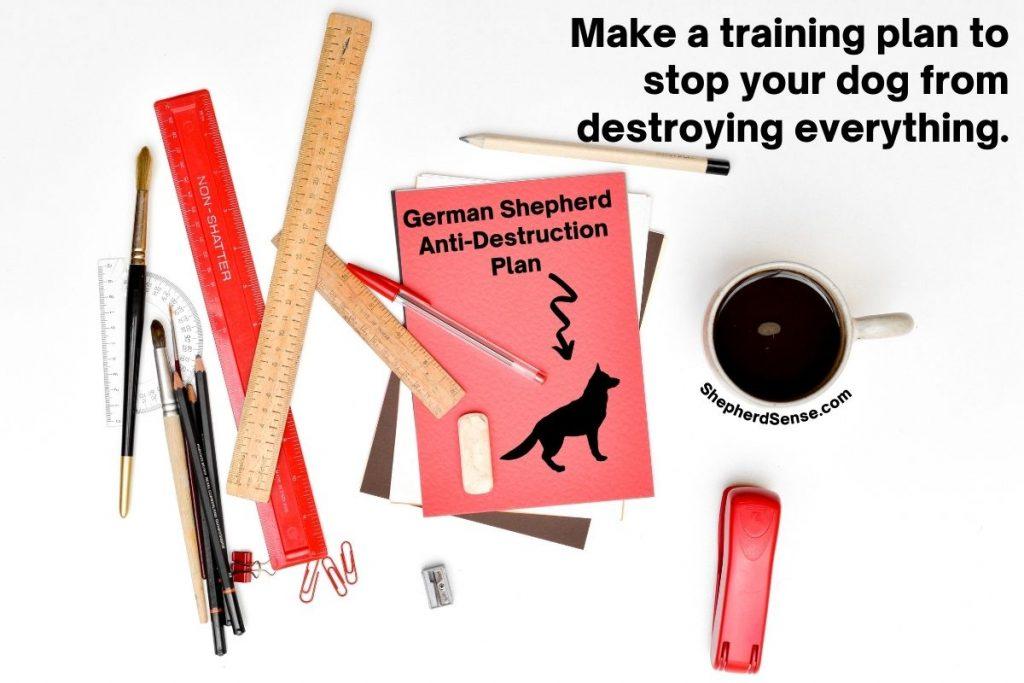 how to stop your german shepherd's destructiveness