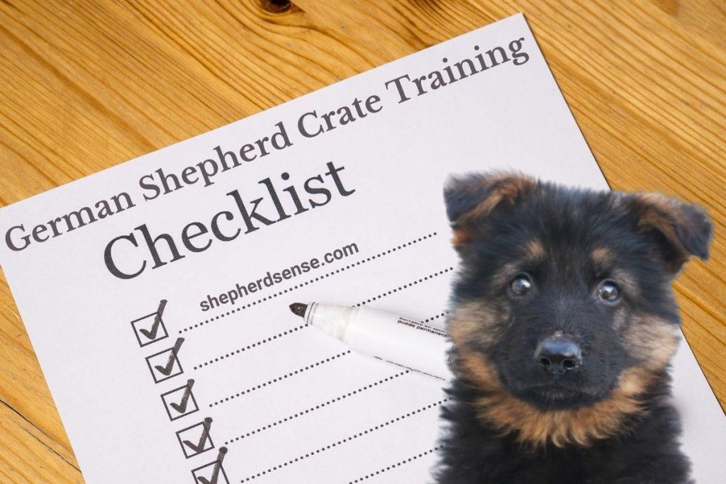 easy step by step german shepherd crate training