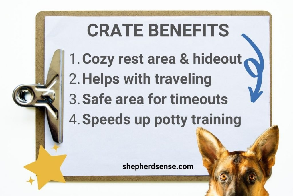 why crate training a german shepherd puppy is great
