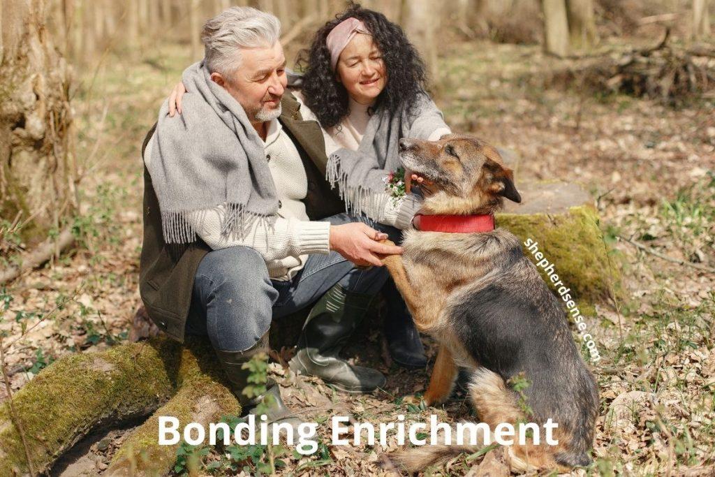 german shepherd bonding for enrichment