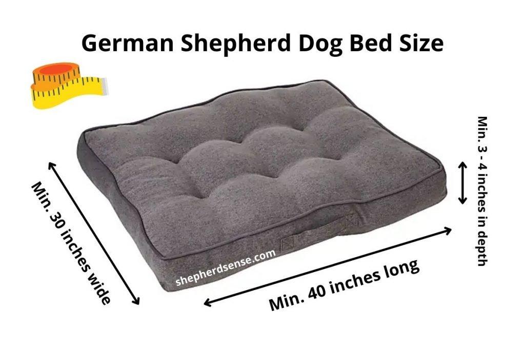 german shepherd dog bed size