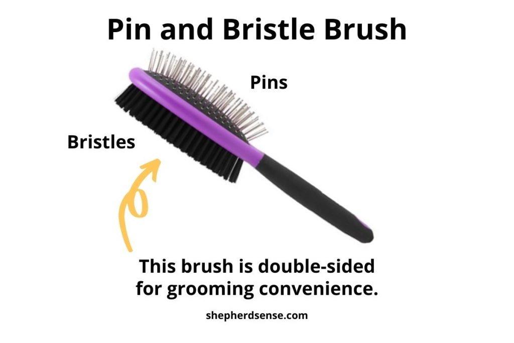 pin and bristle brush for german shepherd