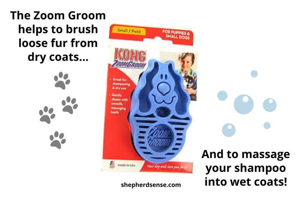 wet and dry bath brush for german shepherds